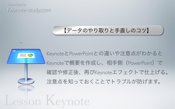 KeynoteとPowerPointとの違いや注意点